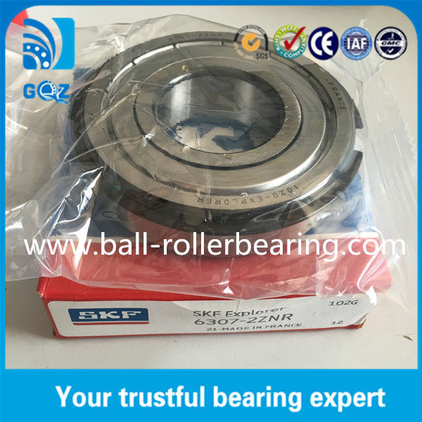 Metal Shielded SKF 6307-2ZNR Deep Groove Ball Bearing with Snap Ring