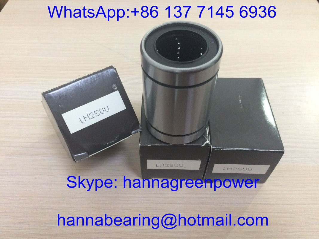 LM25UU / LBD25UU / LM25UU-OP Linear Motion Ball Bearing / Linear Bushing 25*40*59mm