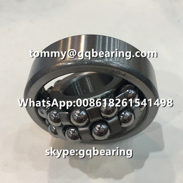 Chrome Steel Material 1304 Steel Cage Double Row Self-aligning Ball Bearing