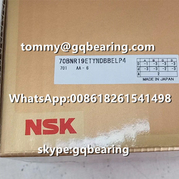 Gcr15 Steel Material Balls 18 degree Contact Angle NSK 70BNR19ETYNDBBELP4 Thrust Angular Contact Ball Bearing