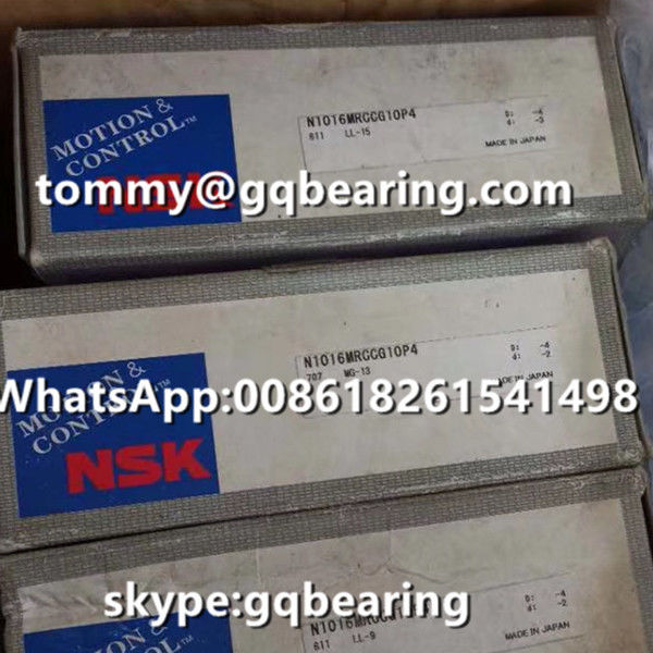 P4 Precision Roller Guided Machine Brass Cage NSK N1016MRCCG10P4 Cylindrical Roller Bearing