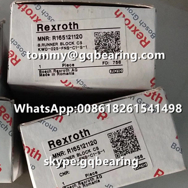 Rexroth R165121120 Steel Material Flange Type Standard Length Standard Height Runner Block