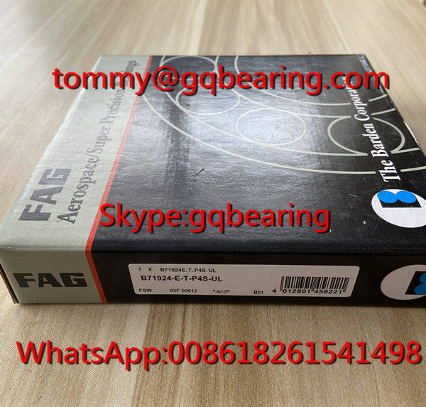 25 degree Contact Angle FAG B71924-E-T-P4S-UL Super Precision Angular Contact Ball Bearing